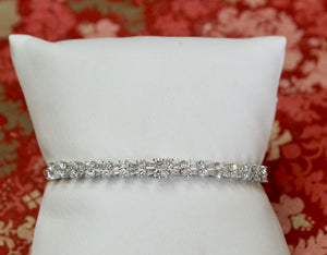 Tapered Baguette Diamond Bangle