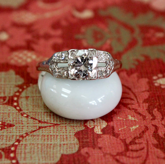 Exquisite ~ Vintage Platinum Engagement Ring