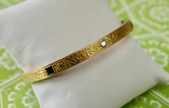 Vintage ~ Krementz & Co. Sapphire and Diamond Bracelet