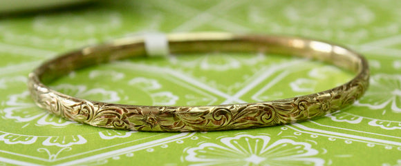 Antique ~ Detailed Bangle bracelet