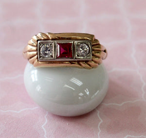 Adorable ~ Ruby with diamond Ring