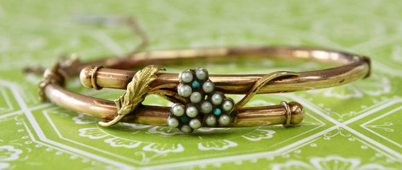 Victorian ~ Pearl & Turquoise Bracelet