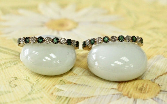 Sparkly & Colorful ~ Emerald & Diamond Band, 2 available