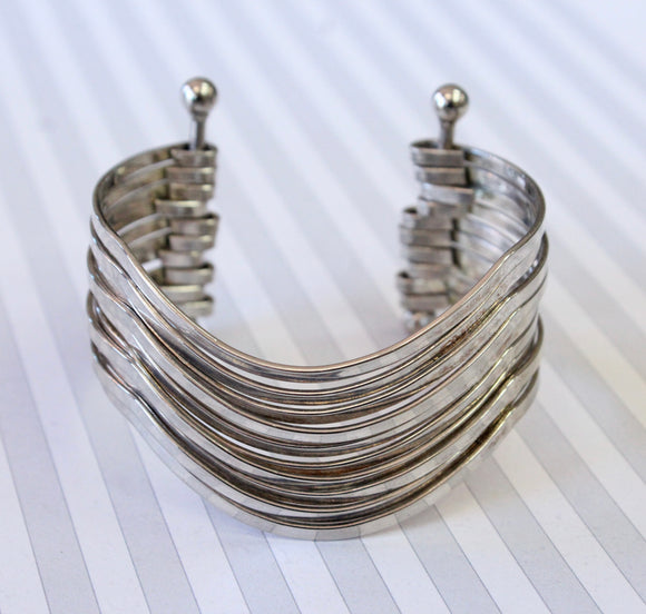 CHIC ~ Wide Sterling Bangle