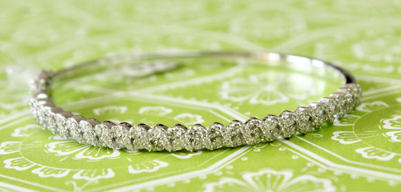 Sparkling ~ 2 Carat Diamond Bangle Bracelet