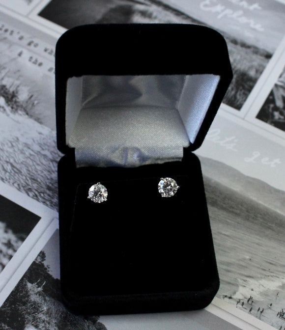 Lovely ~ Diamond Stud Earrings