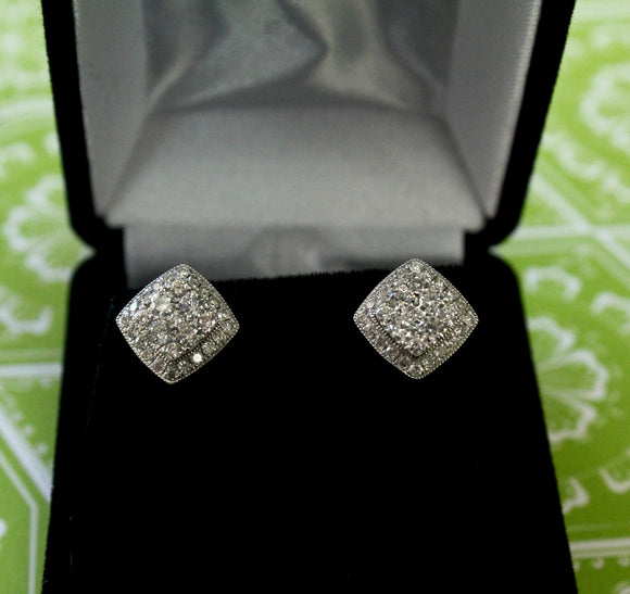 Sparkling ~ Diamond Stud Earrings