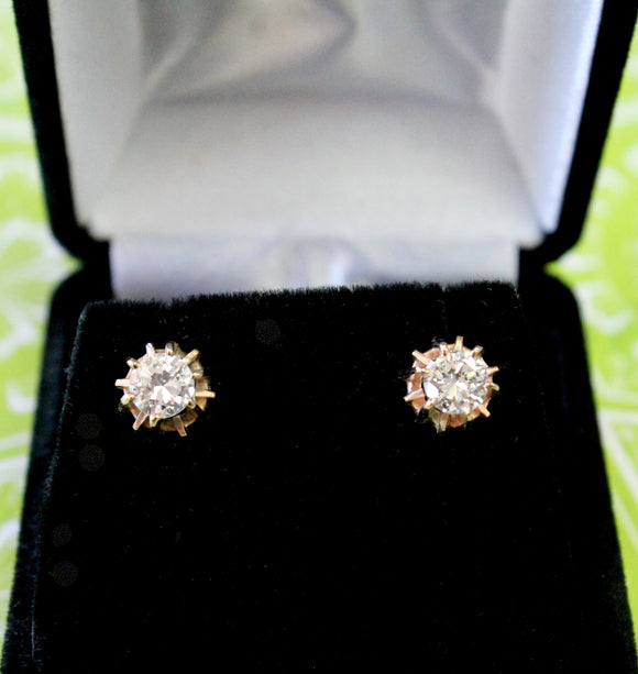 Stylish ~ European Cut Diamond Earrings