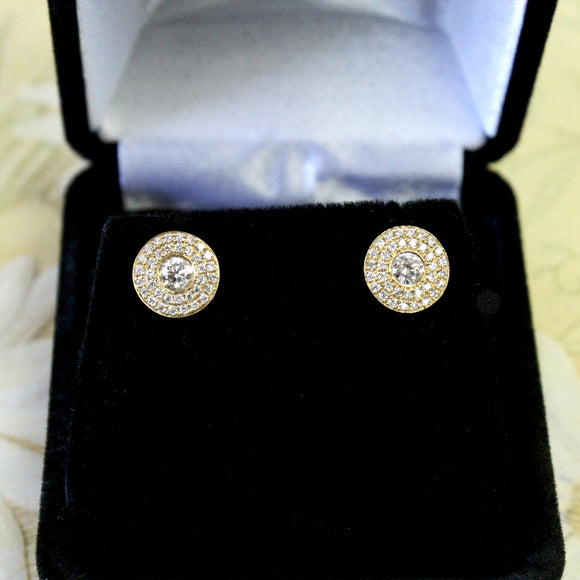 Sparkly ~ Round Diamond Earrings
