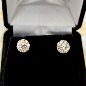 Precious ~Diamond Cluster Stud Earrings