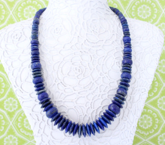 Colorful & Fun ~ Lapis and sterling Necklace