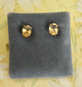 Pretty ~ Citrine Stud Earrings