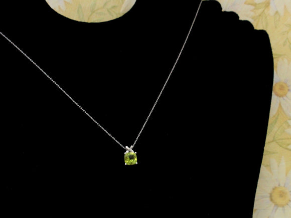 Pretty ~ Peridot & Diamond Necklace