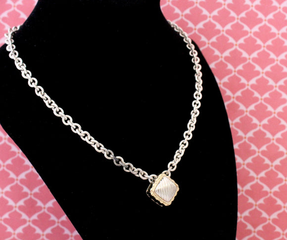 Edgy & Chic ~ Sterling Silver Necklace