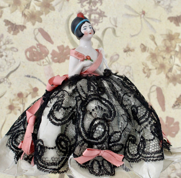 Vintage & Collectible ~ German 1/2 Doll Pin Cushion