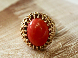Beautiful & Distinctive ~ Bold Coral Ring