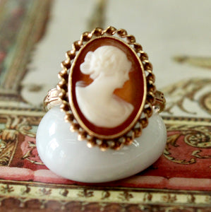 Charming ~ Cameo Ring with decorative edging