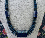 Fun & Colorful ~ Sterling Silver Necklace with Lapis, Opal, & Sodalite