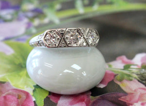 Antique ~ Platinum Diamond Engagement Ring