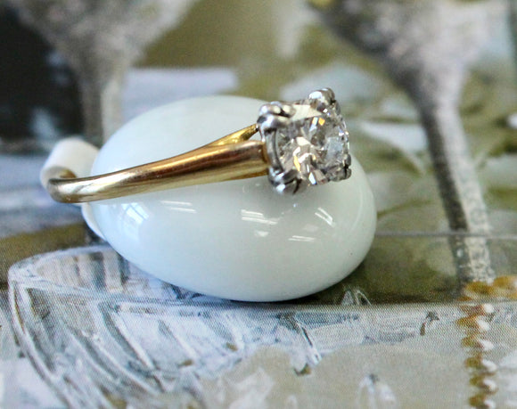 Elegant ~ Transitional Cut Diamond Engagement Ring