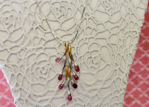 Pretty ~ Pink Tourmaline & Diamond Necklace