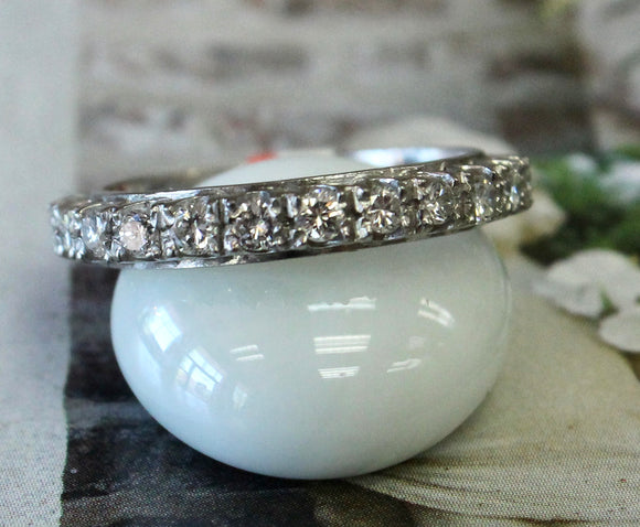 Wonderful ~ Platinum Diamond Eternity Wedding Band