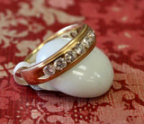 Gold Toned Diamond Wedding Band