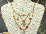 Dramatic & Fun ~ Victorian Jelly Opal Neckpiece