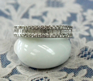 Diamond Wedding Band, gorgeous combination of baguette & round diamonds