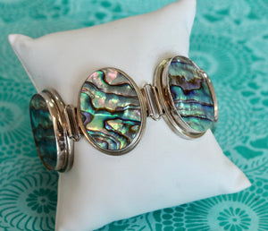 Chic & Colorful ~ Sterling Abalone Bracelet