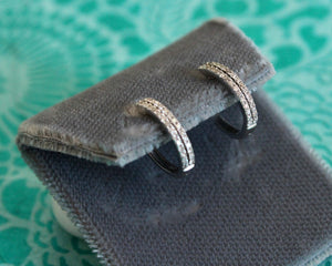 Dainty & Adorable  ~ Diamond Hoop Earrings