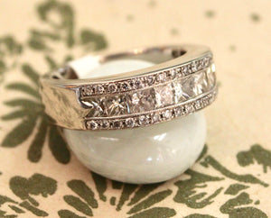 Detailed ~ Diamond Wedding Band