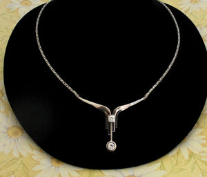 White Gold and Diamond Necklace ~ Beautiful