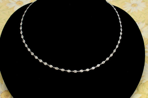 Marquise Cut Diamond Necklace ~ WOW