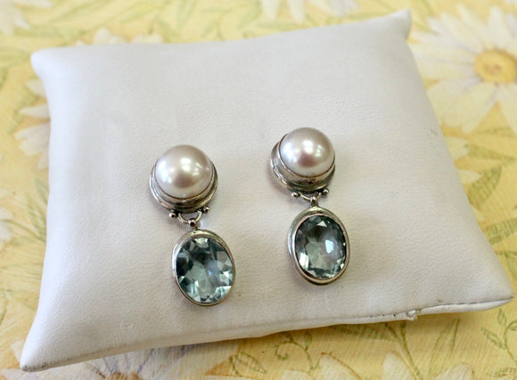 Sparkling ~ Sterling Blue Topaz Earrings