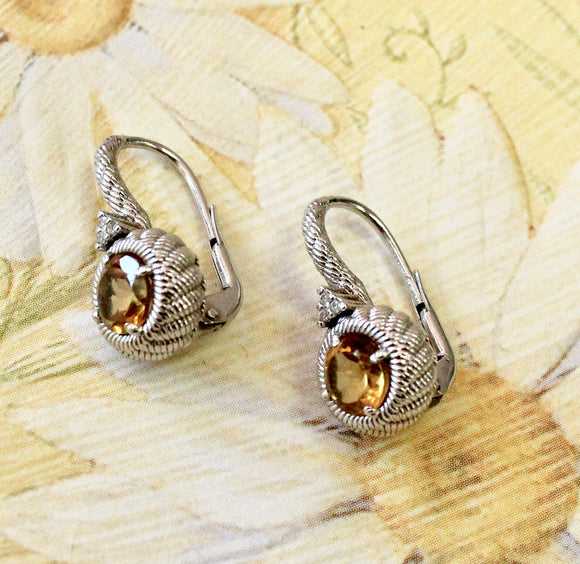 Colorful & Sassy ~ Designer Sterling Citrine Earrings