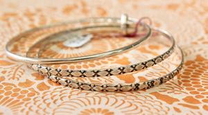 "Vintage ~ 3 Piece Sterling ""Danecraft"" Bangle Set"