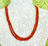 Colorful ~ Double Strand Coral Necklace