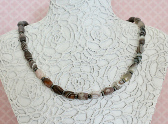 Pretty ~ Agate & Sterling Necklace