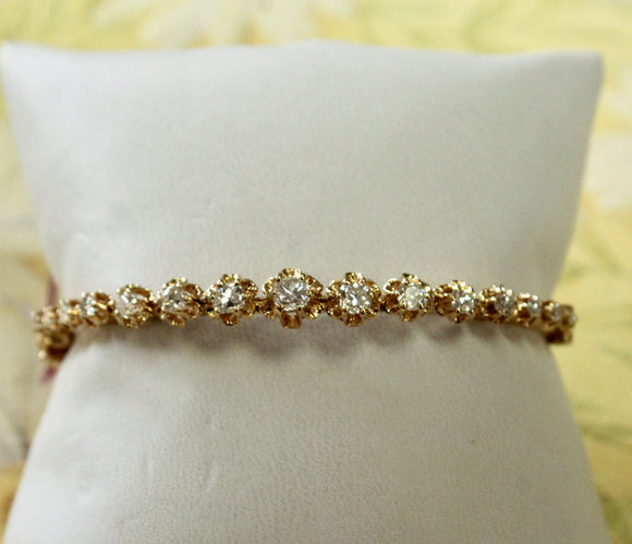 Diamond Bangle Bracelet ~ WOW