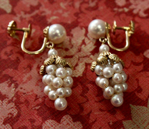 Playful & Pretty ~ Pearl Drop earrings