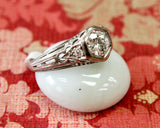 Vintage ~ Platinum Diamond Engagement Ring