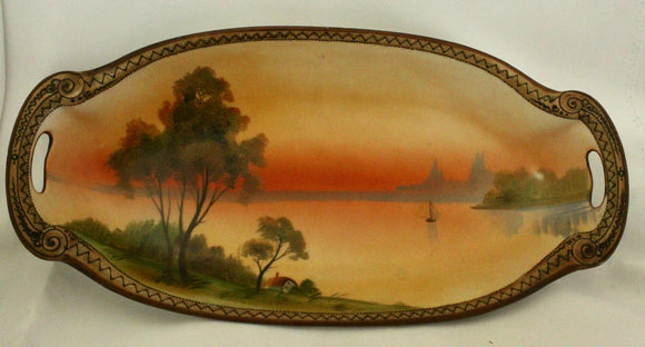 Gorgeous ~ Hand Painted Serving Dish, Nippon