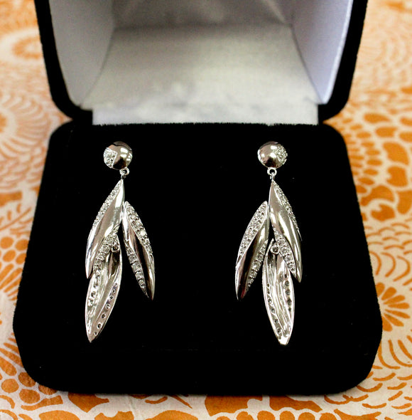 CONTEMPORARY & Sparkling ~ Diamond Drop Earrings