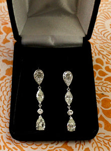 GORGEOUS ~ Dazzling Diamond Drop Earrings ~ WOW