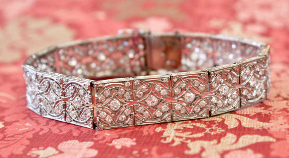 EXCEPTIONAL ~ Vintage Platinum and Diamond Bracelet