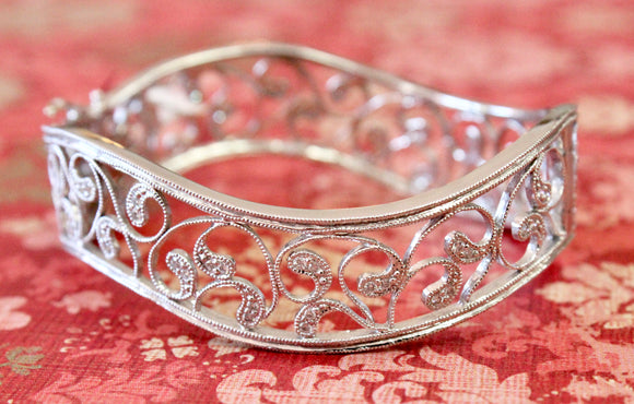 Beautiful ~ Filigree Diamond Bracelet