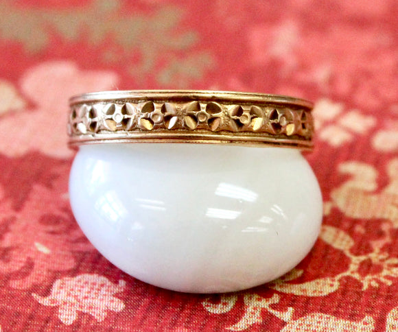 Detailed & Vintage ~ Eternity Wedding Band