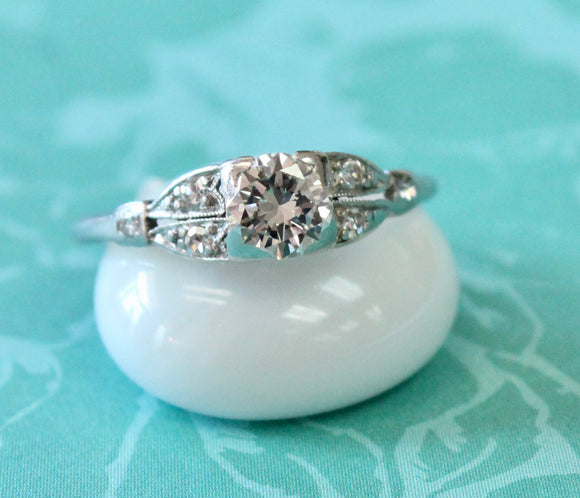 Romantic ~ VINTAGE Diamond Engagement Ring