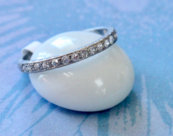 Sparkling Slender Diamond Wedding band ~ Vintage